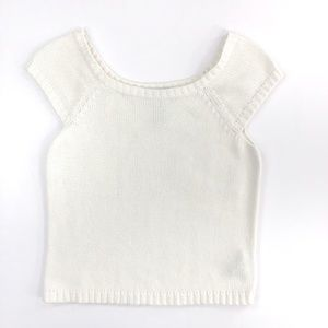 Jones New York Sport Petite Cropped Knit Top